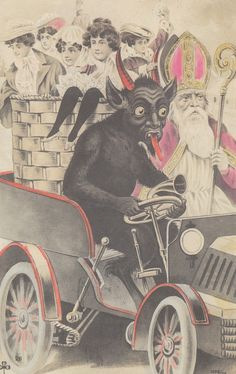 The 2004 book Devil in Design by Monte Beauchamp (previously) of BLAB! features a beautiful collection of creepy vintage Krampus Christmas postcards. The book, published by Fantagraphics Books, inc...