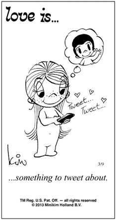 Love is....something to tweet about