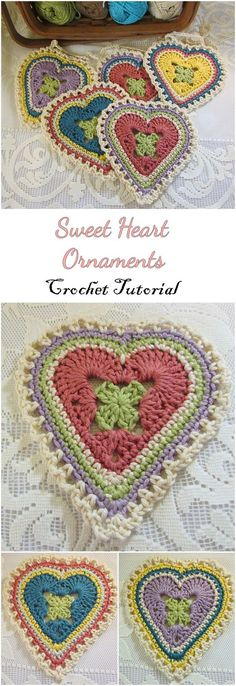 Just Be Crafts: Crochet Sweet hearts