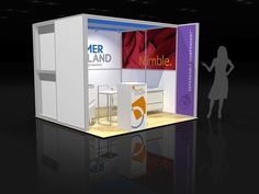 PALM002 - 10x10 Trade Show Display Rental | Exhibitrents