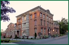 History of the Canfield Casino in Saratoga Springs, NY | Est 1870 where the first Club Sandwich was served and a ball bouncing in the fountain inside indicated the casino was open for business...learn more at http://www.roohanrealty.com/blog/saratoga-centennial-canfield-casino-congress-park/