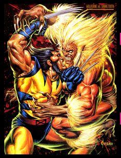 Wolverine vs Sabretooth by Joe Jusko