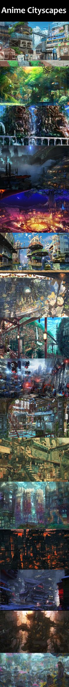 Anime Cityscapes