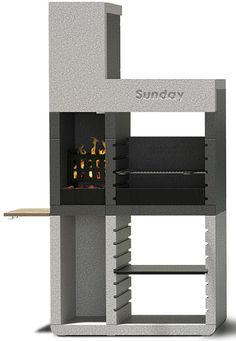 Sunday grill from Emo Design introduces a revolution for the barbecue market. One, the new range of fixed barbecues, thanks to the patented system Duo, Read Fire Pit Grill, Bbq Grill, Grilling, Patio Chico, Modern Patio Design, Outdoor Grill Station, Deck Stairs, Backyard Bar, Home Office Design