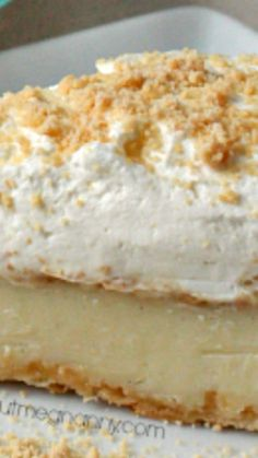 A creamy Amish Peanut Butter Pie ~ made with homemade vanilla pudding, lots of little peanut butter bits and smothered with homemade whipped cream.