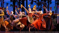 The ensemble cast of the national tour of Rodgers and Hammerstein's Cinderella. (Photo by Carol Rosegg) Rodgers And Hammerstein's Cinderella, Cinderella Broadway, Cinderella Costume, Music Theater, Theatre, Broadway Costumes, Broadway News, Ensemble Cast, Broken Leg