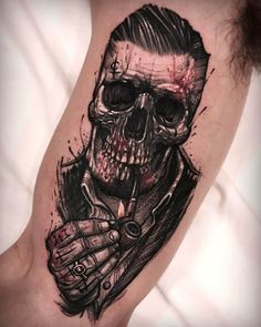 110 best skull tattoos for men - for . - The 110 best skull tattoos for men – shape -The 110 best skull tattoos for men - for . - The 110 best skull tattoos for men – shape - 2017 trend Body - Tattoo's - Antique Skull. Old Gang Tattoo Tattoos Arm Mann, Arm Tattoos For Guys, Trendy Tattoos, Unique Tattoos, Body Art Tattoos, New Tattoos, Tattoos For Women, Badass Tattoo For Men, Best Tattoos For Men