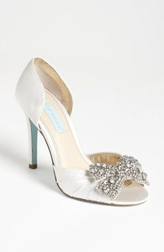 """d'Orsay Sandal with a """"Something Blue"""" sole."""