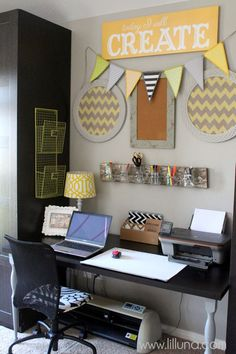 Office Makeover { lilluna.com }