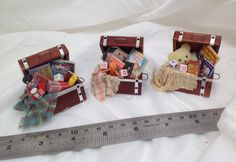 Dolls House Miniatures - Toy chest (assorted) - NEW AUTUMN 2015
