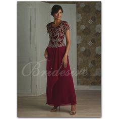 Bridesire - A-line Scoop Floor-length Chiffon Mother of the Bride Dress [20255043] - US$159.99 : Bridesire