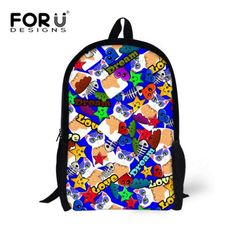 fade5685ac11 FORUDESIGNS 16 Inch School Bags for Teenager Girls Boys