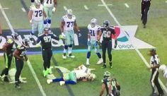 Tony Romo suffers back injury on first drive of preseason game - http://www.truesportsfan.com/tony-romo-suffers-back-injury-on-first-drive-of-preseason-game/