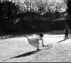 Lartigue+Racecourse+at+Nice | Suzanne Lenglen in training, Nice, November 1915.