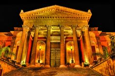 Teatro massimo where Michael Corleone's daughter, Mary, got killed in the Godfather part3.
