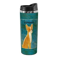 Tree-Free Greetings TT02053 John W. Golden 18-8 Double Wall Stainless Steel Artful Tumbler, 14-Ounce, Red Chihuahua -- For more information, visit image link.