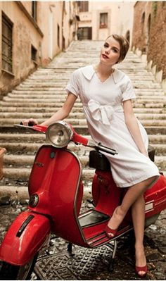 ... for riding scooters down stairwells 'Italian Job' style, or for just being generally adorable. [ShabbyApple.com]