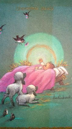 """""""Who is this child, Asleep in a manger? The heaven's are bright, And the stable's so cold. On this holy night, Have You come to redeem us? Little child in the straw, Little child in the straw."""" ~Caedmon's Call, 'Babe In The Straw' (Christmas song, lyrics) http://www.lyricsnmusic.com/call/babe-in-the-straw-lyrics/5803927"""