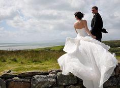 Scotland Wedding. Love the way the dress billows