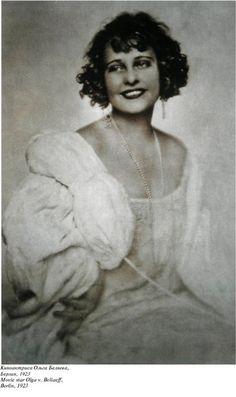 Киноактриса Ольга Безяева, Берлин, 1923 г.