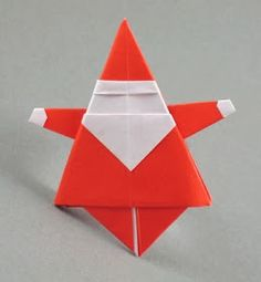 Origami Christmas and Santa Claus and the books showing you how to make them. Learn more on Gilad's Origami Page. Cute Origami, Origami And Quilling, Origami And Kirigami, Paper Crafts Origami, Origami Easy, Oragami, Origami Hearts, Origami Envelope, Dollar Origami