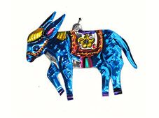 Mexican punched tin ornament, handmade in Oaxaca