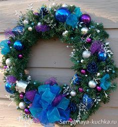 декор для синего нового года