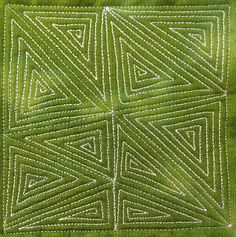 78. Free Motion Quilting Garden Maze, #419 - 365 Days of Free Motion Quilting Filler Designs