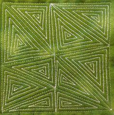 78. Free Motion Quilting Garden Maze, #419 - 365 Days of Free Motion Quilting Filler Designs