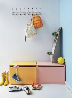 Flexa Play opbevaringsbænk - hvid - Flexa bænk og legekasse - hvid