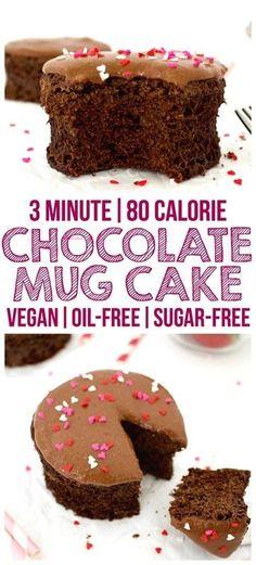 Healthy Single Serving Chocolate Mug Cake! (Vegan, Whole-Wheat, Oil-Free, Sugar-Free)