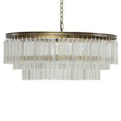 Noir Oval Deco Chandelier | Linear | Chandeliers | Lighting | Candelabra, Inc.