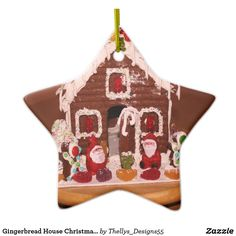 Lebkuchen-Haus-Weihnachtsdekoration Gingerbread, Christmas, Design, Ginger Bread House, Christmas Decorations, Schmuck, Xmas, Ginger Beard, Navidad