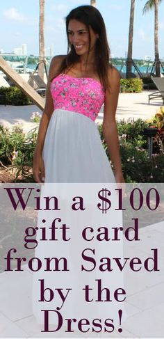 Contest ends soon! Enter for a chance to win!! http://savedbythedress.com/pin/