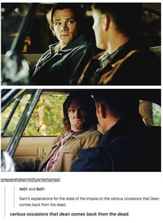 Various occasions that Dean comes back from the dead