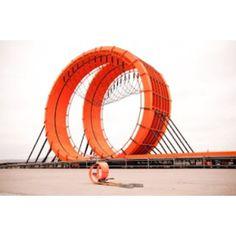 Real life hotwheels loop