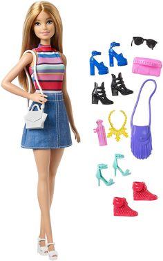 Jupe en Jean Et Haut DGY58 Barbie Fashionistas