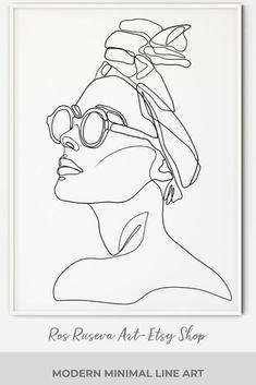 Art Sketches, Art Drawings, Abstract Face Art, Minimal Art, Art Abstrait, Simple Art, Line Drawing, Line Art, Illustration Art