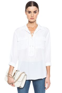 Knox Lace Up Silk Top