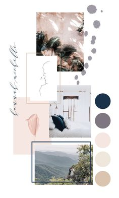 Mood board inspiration for small business owners and entrepreneurs Design Visual, Graphisches Design, Design System, Design Color, Pattern Design, Mode Collage, Aesthetic Collage, Mise En Page Portfolio Mode, Feeds Instagram