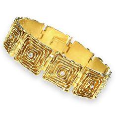18k Gold Bracelet - The Melting Walls™ Collection by Damaskos #GoldBracelets