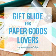 I wrote a gift guide! For people who love paper things!  Go visit #snarksandcrafts blog to see 12 gorgeous and awesome gift ideas for anyone who loves paper goods including yourself   Featuring @1canoe2 @benchpressed @rhubarbpaperco  a whole bunch more!  Get there via the link in my profile or drive to saradoes.com/blog #saradoes