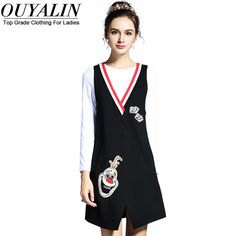L- 5XL Fall 2 Piece Dress Black and White Young Girl Short Dress Long Sleeve Like and share! http://www.artifashion.net/product/l-5xl-fall-2-piece-dress-black-and-white-young-girl-short-dress-long-sleeve/ #shop #beauty #Woman's fashion #Products