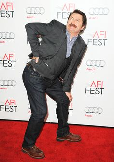 #you bootylicious mustached idiot  LOVE RON SWANSON.
