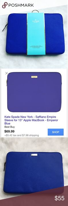 """Kate Spade laptop sleeve Work and travel have never looked better with the kate spade new york sleeve for 13"""" laptop. Compatible with many 13"""" laptops, the sleeve is scratch-resistant and easy to clean.💙BRAND NEW NEVER USED💙🚫NO TRADES OR LOW BALL OFFERS🚫 kate spade Accessories Laptop Cases"""