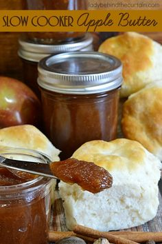 Slow Cooker Apple Butter | One of the most popular recipes I make for Fall!  Trust me when I say….you're family will never want store bought again! This easy recipe is perfect for busy moms.