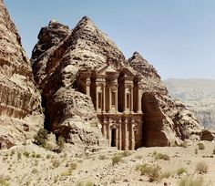 "Petra in Jordan - Described by the UNESCO as ""one of the most precious cultural properties of man's cultural heritage"