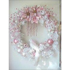 Chic Christmas Tree Decorating Ideas | Shabby Chic Christmas Decorating, Romantic White Christmas Decorating ...