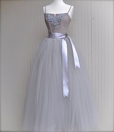 absolutely adore the bodice detail, straps, and the sash - so pretty! -- Tutu skirt full length. Champagne tulle for women.