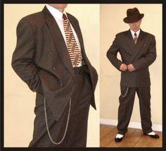 1940s Lindy Hop gangster swing Demob style suit